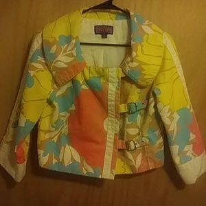 ❤Amazing Floral crop Motorcycle Jacket size S